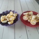 Apelsin till middag, frukost och lunchlåda