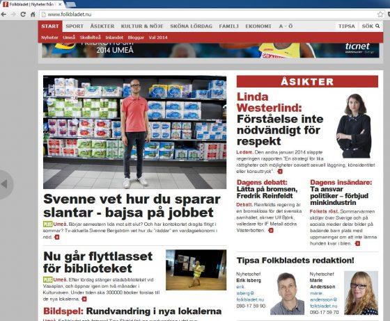 Folkbladet artikel 2014-08-01
