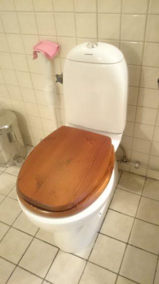 Det här är vår toastol på övervåningen. Den är inte lika ny och har inte funktionen med två spolknappar.