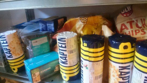Matförrådet i källaren