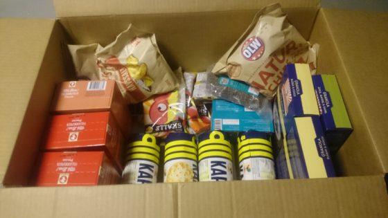 låda med mat från matsmart